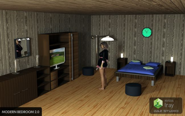 Modern Bedroom 2.0 for Daz Studio