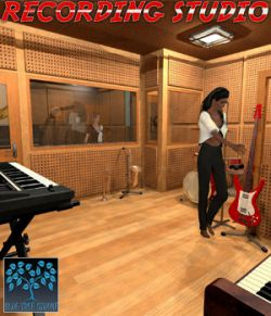 Recording Studio for Poser