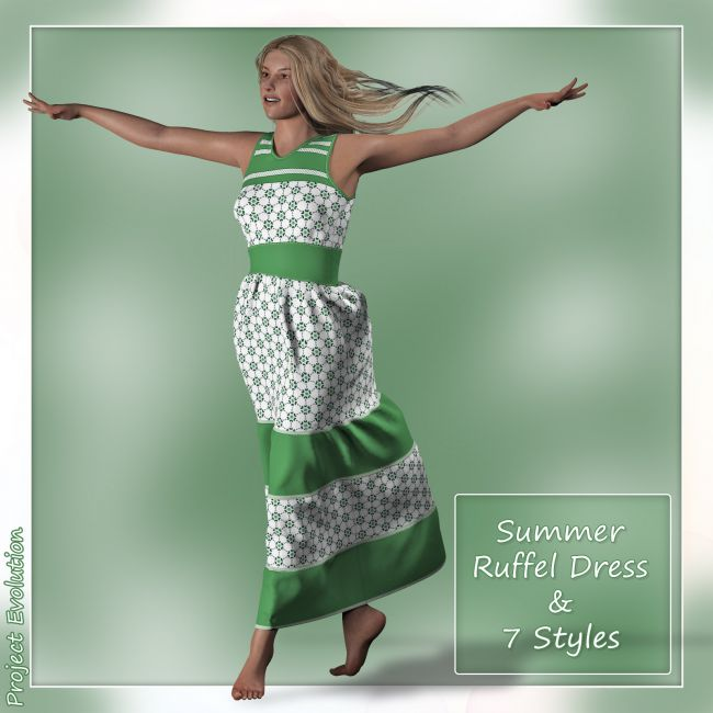 Summer Ruffle Dress and 7 Styles for Project Evolution - Poser