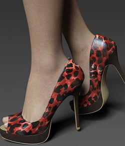 COSMOPOLITAN- Peep-Toe Platform Pumps For G8F