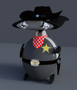 Sheriff outfit for KX Wibi