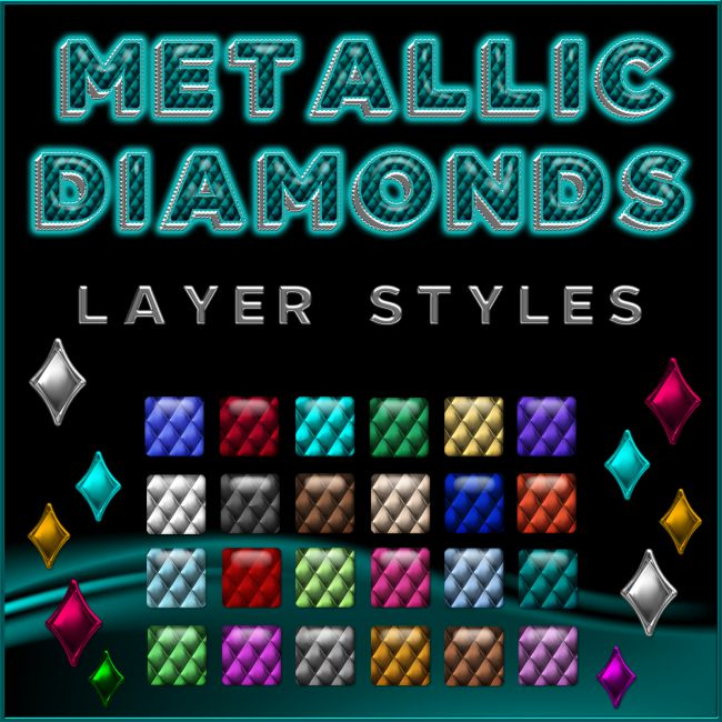 Metallic Diamonds PS Layer Styles