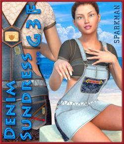 Sparkman Denim Sundress for Genesis 3 Female
