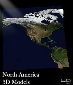 North America 3D Model