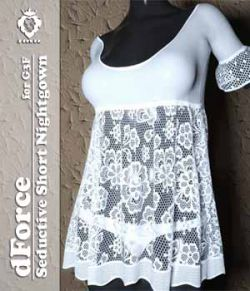 JMR dForce Seductive Short Nightgown for G3F