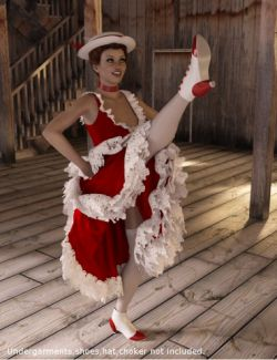dForce Frolic Dress Set for Genesis 3 and 8 Female(s)