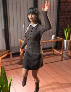 dForce Casual Sweater Outfit for Genesis 8 Female(s)