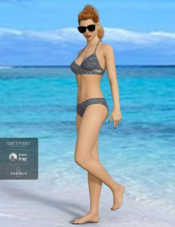 H&C Bikini Swimsuit Outfit for Genesis 8 Female(s)