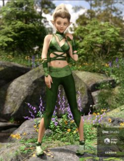 dForce Nimble Elf Outfit for Genesis 8 Female(s)