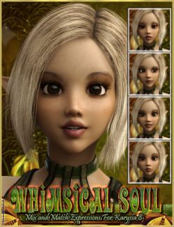 Whimsical Soul Mix And Match Expressions For Karyssa 8 And Genesis 8 Female(s)