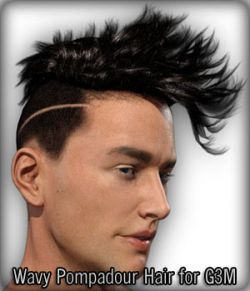Wavy Pompadour Hair for G3M