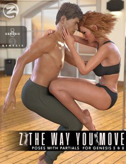 Z The Way You Move - Dance Poses with Partials for Genesis 3 & 8