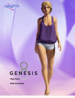 Walk Cycle for Genesis 8 Female(s)