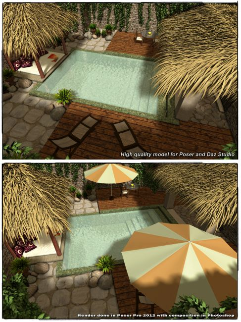 Stz Secluded Place Props For Poser And Daz Studio