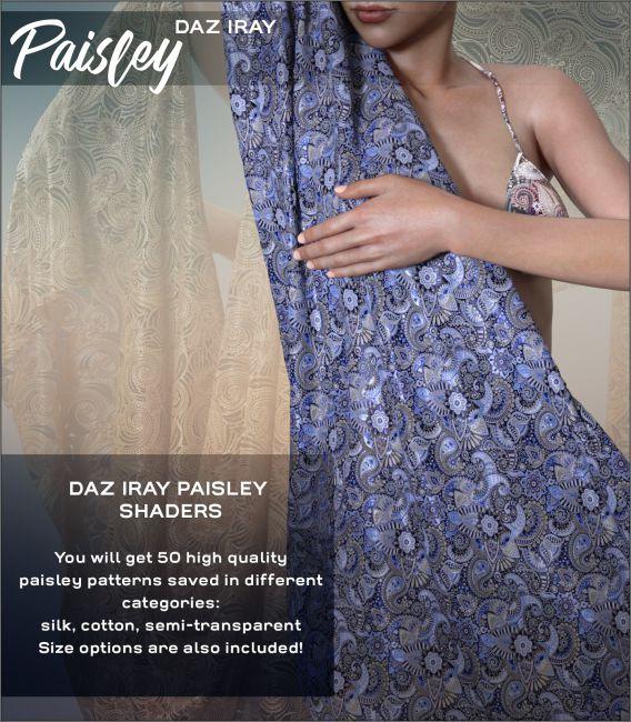 Daz Iray - Paisley Prints