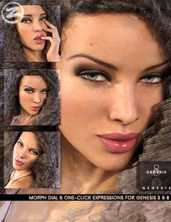 Z Runway Model- Dialable and One-Click Expressions for Genesis 3 & 8