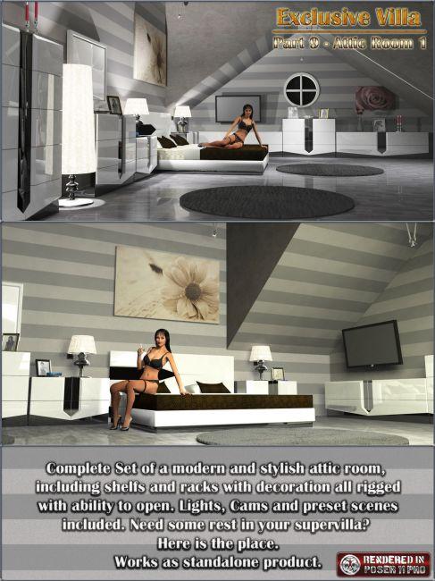 Exclusive Villa 9: Attic Room 1
