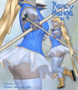 Fancy Manga_Clothing set for V4 A4 and Poser.