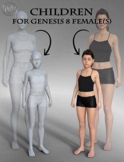 Body Shapes: Children for Genesis 8 Female