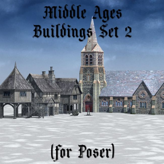 Middle Ages Buildings Set 2 for Poser