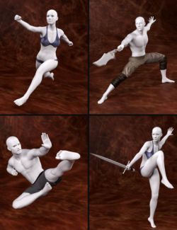 Kung Fu Action Poses for Genesis 3 and 8