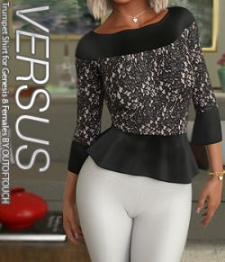 VERSUS - Trumpet Shirt for Genesis 8 Females
