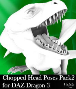 Chopped Head Poses Pack 2 for DAZ Dragon 3