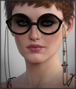 Gothic Punk Glasses G3F G8F Daz