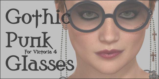 Gothic Punk Glasses V4 Poser