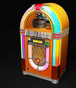 WURLITZER 1015 JUKEBOX OBJ & FBX (EXTENDED LICENSE)