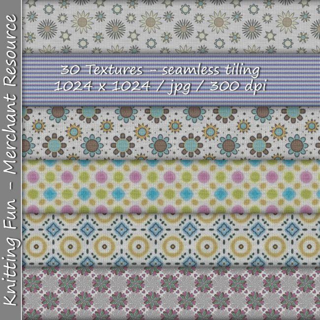 KW Knitting Fun - 30 Textures - Merchant Resource