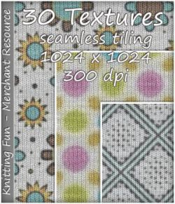KW Knitting Fun - 30 Textures - Merchant Resource