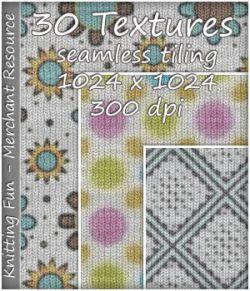 KW Knitting Fun- 30 Textures- Merchant Resource