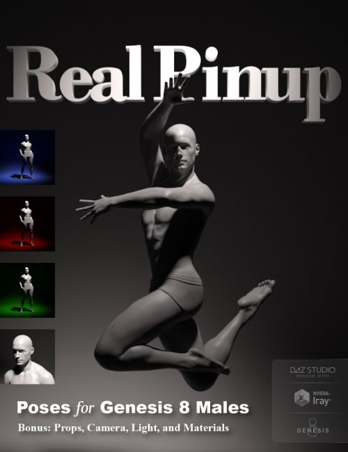 Real Pinup Poses and Lights for Genesis 8 Male(s)