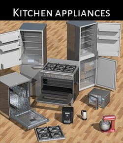 Everyday items, Kitchen appliances for Poser
