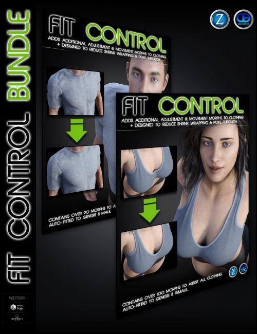 Fit Control Bundle for Genesis 8 Female(s) and Male(s)