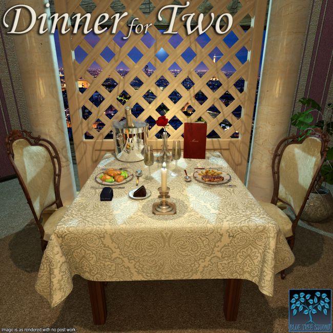 Dinner for Two for Poser