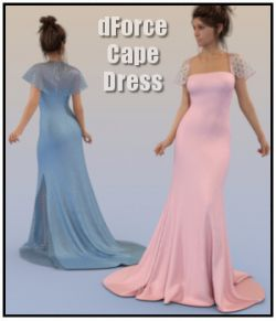 dForce-Cape Dress for G8F