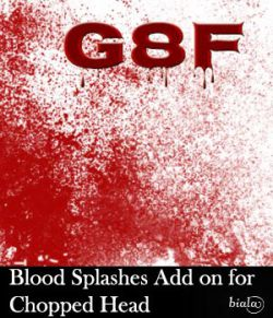 Blood Splashes Add on for Chopped Head G8F
