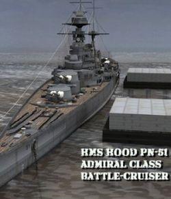 HMS Hood (for Poser)