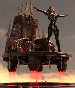 Dark Sci Fi Throne