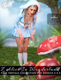 Z Alice In Wonderland - Poses, Partials and Expressions for Genesis 3 & 8 Female