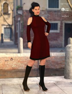 Open Shoulder Dress for Genesis 8 Female(s)