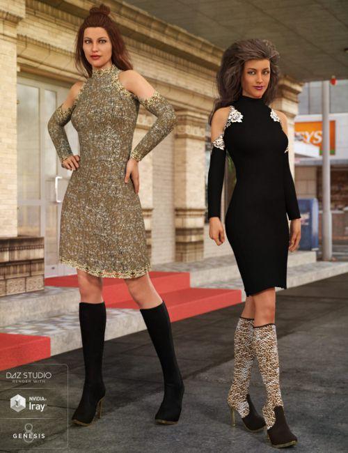 Open Shoulder Dress Textures