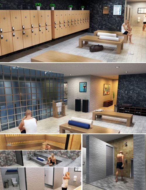 Condominium Locker Room