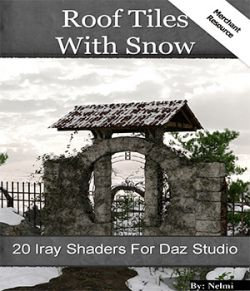 20 Roof Tiles with Snow Iray Shaders- Merchant Resource