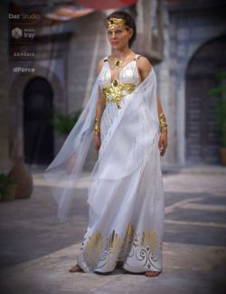 dForce Olympus Goddess Outfit for Genesis 8