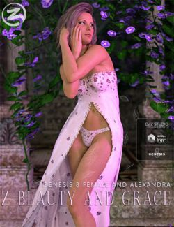 Z Beauty and Grace- Poses and Expressions for Genesis 8 Female and Alexandra 8