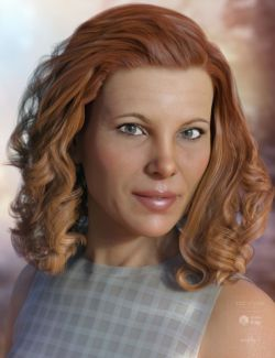 Louise Hair for Genesis 3 & 8 Female(s)