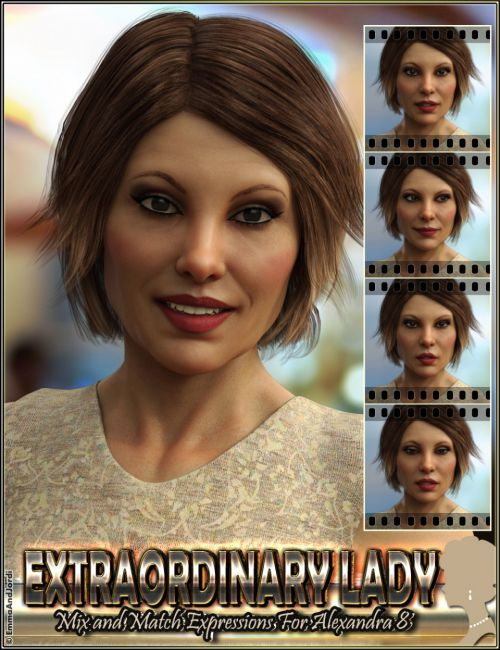Extraordinary Lady Mix and Match Expressions for Alexandra 8 and Genesis 8 Female(s)